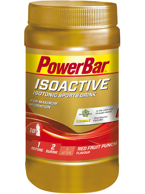 PowerBar Isoactive - Nutrition sport - Red Fruit Punch 600g